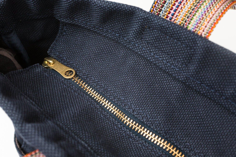 テラス 帆布 トートバッグ Mサイズ ネイビー画像その6