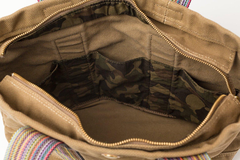 テラス 帆布 トートバッグ Mサイズ ベージュ画像その3