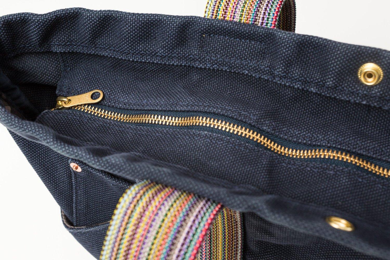 テラス 帆布 トートバッグ Lサイズ ネイビー画像その6
