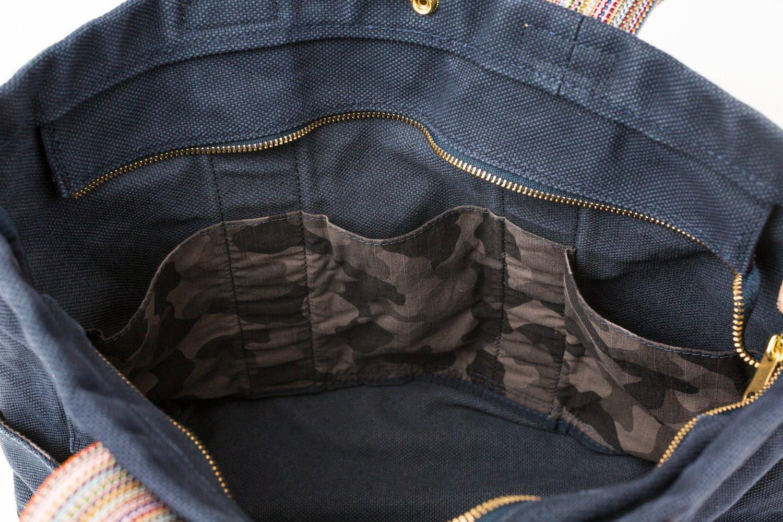 テラス 帆布 トートバッグ Mサイズ ネイビー画像その3